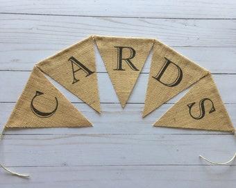 Cards Burlap Bunting Banner