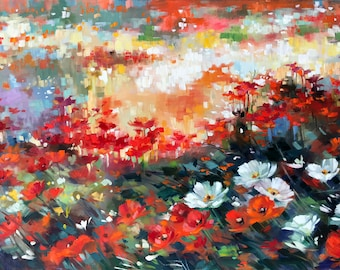 Poppies- Touched-Up Canvas Print