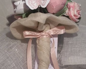 Pink Butterfly Paper Bouquet