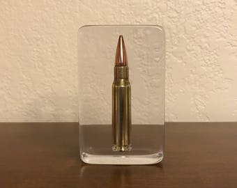 Bullet Paperweight - U.S. Mil-Spec 7.62x51 NATO - A Must Have For Any Gun Enthusiast, Military/LEO Or Anyone For That Matter - Man Or Woman!