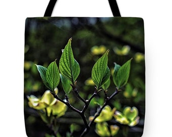 Rising Up, Dogwood Tree, Dogwood Tote Bag, Dogwood Beach Bag, Dogwood Canvas Bag, Dogwood Shoulder Bag, Nature Tote Bag