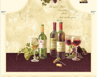 """Apron Panel """"Uncorked"""" by Wilmington Prints"""