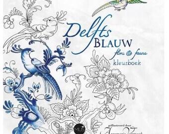 Delfts Blauw flora & fauna kleurboek