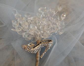 Cinderella Crystal Wedding Corsage