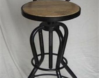 Industrial Counter height bar stool chair reclaimed wood.