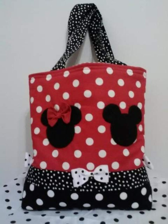 Mickey And Minnie Mouse Tote Diaper Bag