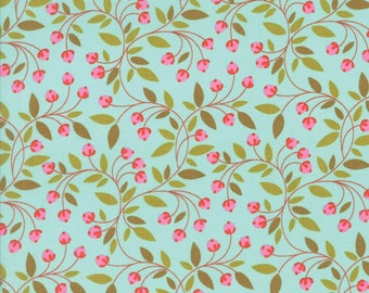 Moda - Wing & Leaf by Gina Martin - Robins Egg - 10065 14 - 100% cotton fabric by the yard(s)
