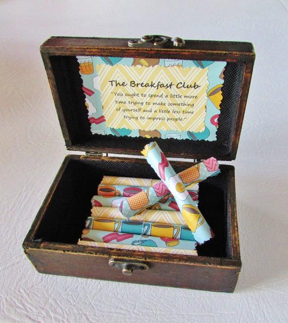 Breakfast Club Birthday Gift Breakfast Club Anniversary Gift Christmas Gift Breakfast Club Scroll Box Breakfast Club quotes Wife Anniversary