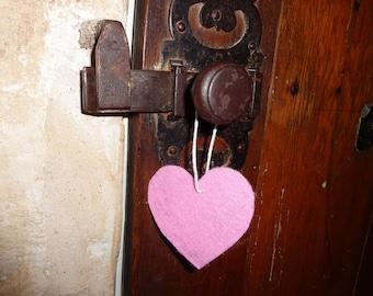 Hanging felt for window, closet or door handle