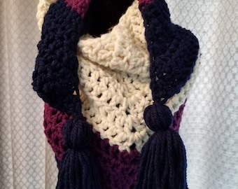 Scarf/wrap with tassels