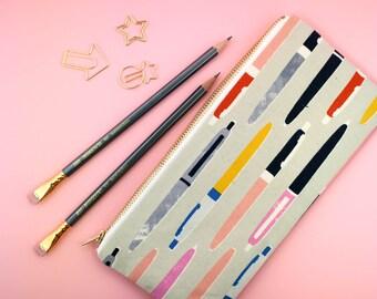 Pencil Zipper Pouch, Fun Pencil Pouch, Artist Supply Pouch, Colorful Pencil Pouch, Pencil Case, School Supply Holder, Pen Case