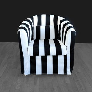 Black White Stripe IKEA TULLSTA Chair Covers, Summer House Ikea Decor,  Outdoor Stripe Chair