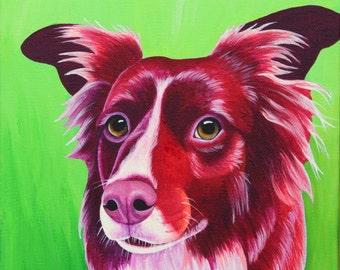 10x10 Custom Pet Portrait Custom Dog Portrait Pet Memorial Art Custom Pet Painting Acrylic Painting Custom Cat Painting Personalized Pet Art