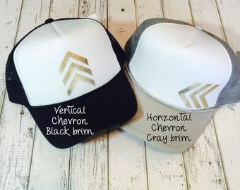 Best seller, cute chevron hat, chevron, gold chevron, silver chevron, cute hat, trucker hat, trucker hats