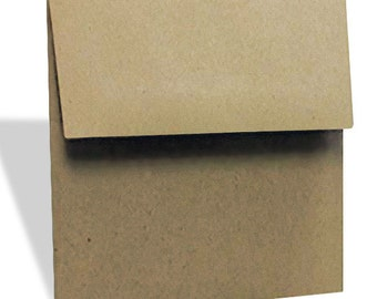 5x5 Inch Brown Bag Kraft Envelopes, 70 LB, Set of 25