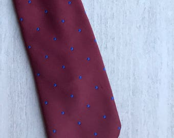 Etienne Aigner Red Men's Tie with Blue Dots