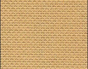 "Aida, Charles Craft Gold Standard  14 count Aida, BEIGE ,  15""x18""  for cross stitch, aida for cross stitch, Fabric"