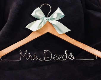 Personalized Bridal Hanger/ Wedding Hanger