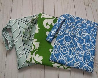 3 Waterproof Wet Bags, Swimsuit Bag, Cloth Diaper Bag