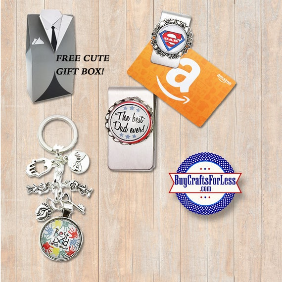 FATHER'S Day, Dad's Day, GiFT for him, Key Ring, Money / Gift Card Clip-FREE GIFT BoX +Discounts & Free Shipping*