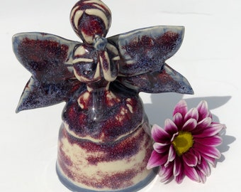 Handmade Ceramic Fairy Sculpture/ Hand Built Pottery Sculpture