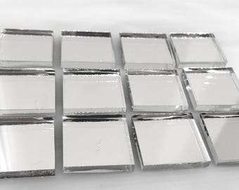 MIRROR TILE All Sizes - Stained Glass Mosaic Supply M5