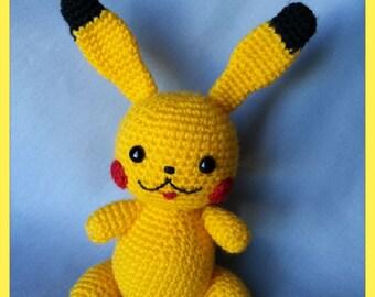 Pokemon Pikachu, crocheted Pokemon toy, handmade