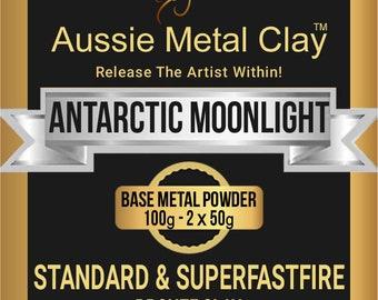 Aussie Metal Clay Standard Antarctic Moonlight 100 grams / White Bronze Metal Clay / Silver Bronze Metal Clay