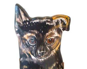 Vintage Nina Lyman German Shepard Puppy Vase Planter