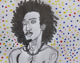 Cosmic Solitude Portrait Fine Art Print