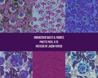 Pastiche, In the Beginning Fabrics, Jason Yenter, Pikette Fat Quarter Pack, 6 FQ