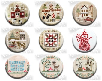 Pick One Winter Needle Nanny Nannies Minder Stitch Dots cross stitch tool notion laundry Farmhouse Christmas LHN JBW Designs CCN snowman