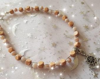 Wood bead anklet, beaded ankle bracelet, brown bead anklet, summer jewellery, holiday jewellery, wooden ankle bracelet, beach jewellery