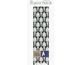 30 x 40 cm Pack of 3 Sheets d/écopatch Black//White Tyre Tread Paper