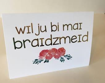 Will You Be My Bridesmaid (SLP IPA Greeting Card)