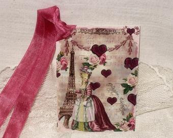 Valentine Gift Tags, Marie Antoinette Original Design Gift Tags Vintage French Market Style Love MAVal002 ECS