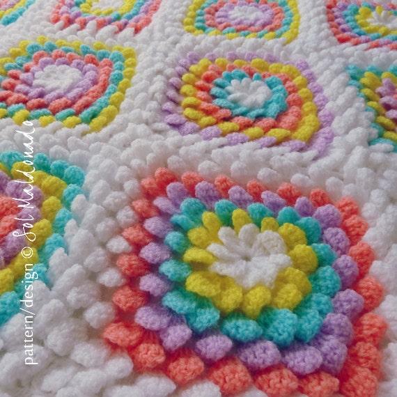 Baby Blanket Floral Crochet Pattern Yummy Flower Granny Square
