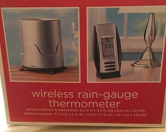 Wireless raingauge  and thermometer...free shipping !!!