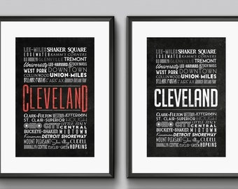 Cleveland Neighborhoods Poster - 11x17