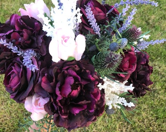 Purple Peony Bridal Bouquet