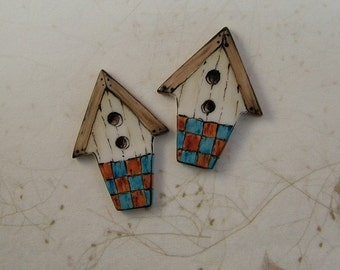 Birdhouse Embellishment set of 2