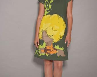 Green dress, Yellow dress, party dress, women dresses, midi dress, dress with pockets , colorful dress, summer dresses, spring dress