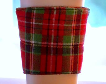 Handmade reusable coffee cup sleeve
