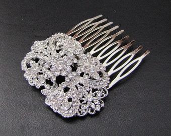 Vintage inspired bridal hair comb,  wedding hair piece  - Meryl