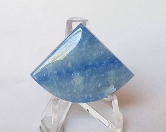 Blue Dumortierite in Calcite Cabochon
