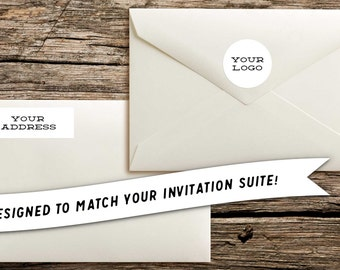 Matching Digital Files for Return Address Label & Logo // Designed to Match Your Factory Made Invitation Purchase