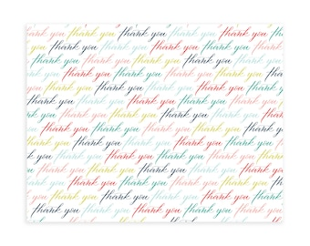 THANK YOU PATTERN, White, Notecard Set, Notecards and Envelopes, Notecards, Note cards, Note card set, All Occasion Cards