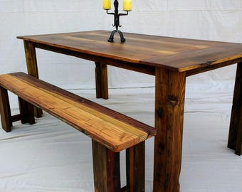 Farmhouse Dining Table made with Reclaimed wood ( local pick up or delivery only please )