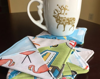 Quilted Camping Coasters