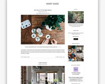 Mary Anne | Responsive Minimalist Premade Blogger Template